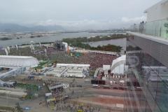 Eine Übersicht des Rock in Rio Gelände