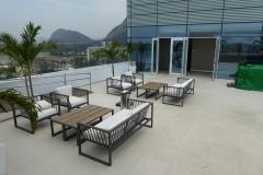 Pool Landschaft auf dem Hotel Dach