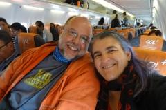 Wir beide im Gol Flieger von Manaus nach Cuiabá