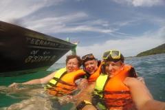 Gruppenfoto im Wasser