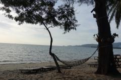 Herrliche Aussicht auf den Strand vor dem Restaurant The Five Island