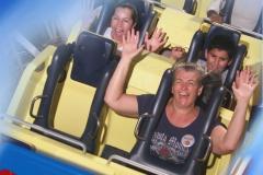 Monica auf ihrer ersten Screaming Fahrt