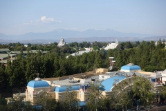Aussicht vom Riesenrad aufs Disneyland