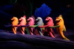 Ariels Fische singen für sie
