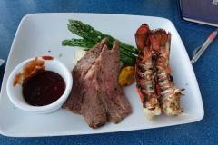 Roastbeef und Lobster, unsere Hauptspeise