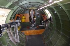 B-17-Blick Richtung Cockpit