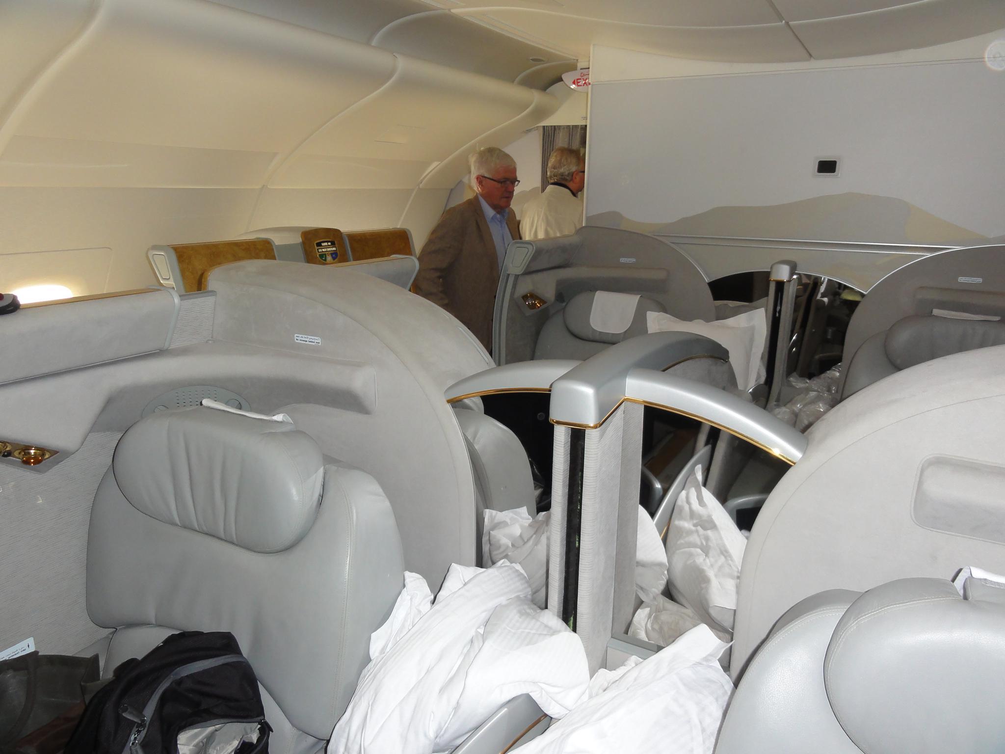Emirates A380, First Class private Suiten