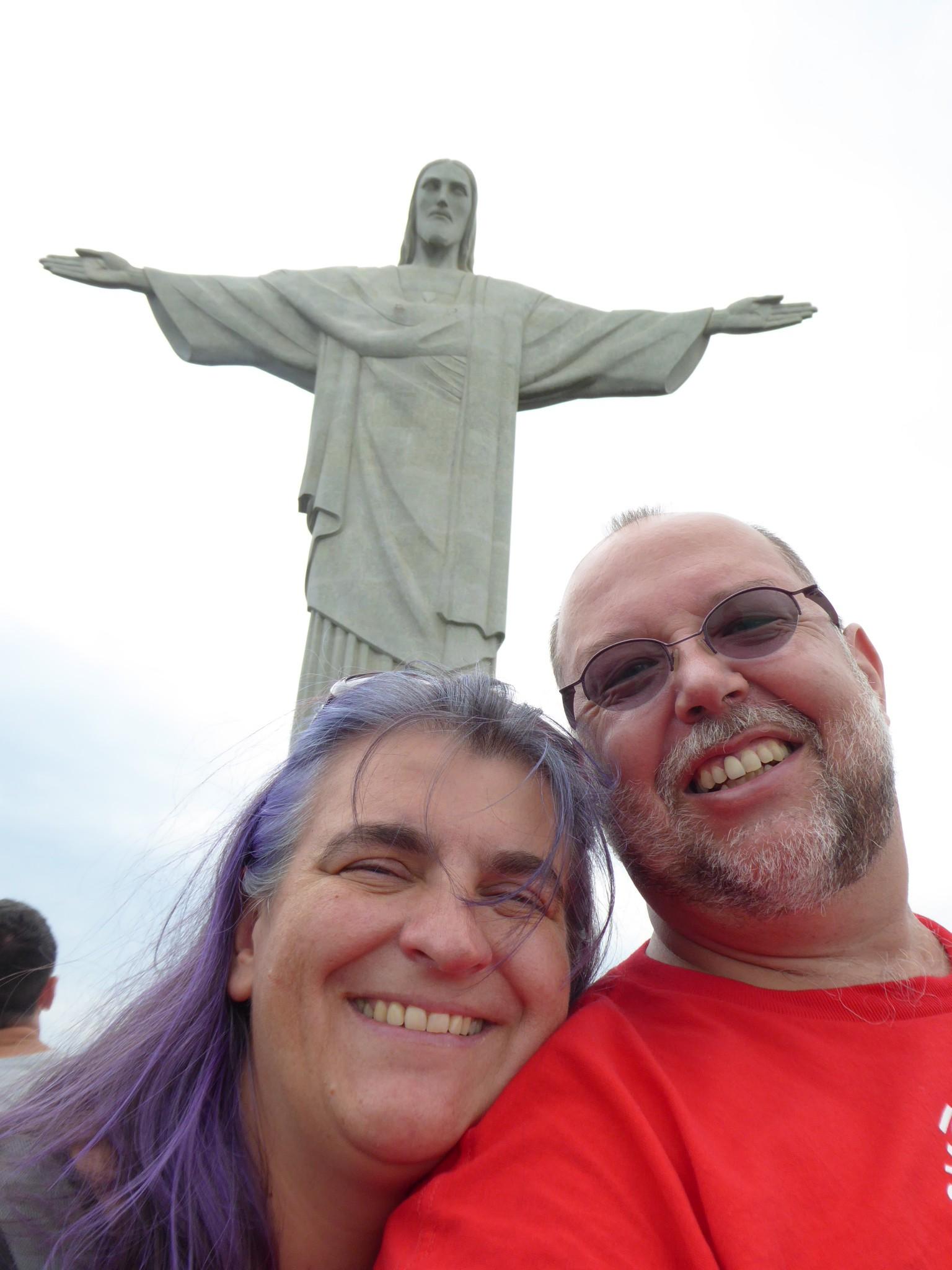 Was für ein Gefühl, wir beide vor der Christus Statue