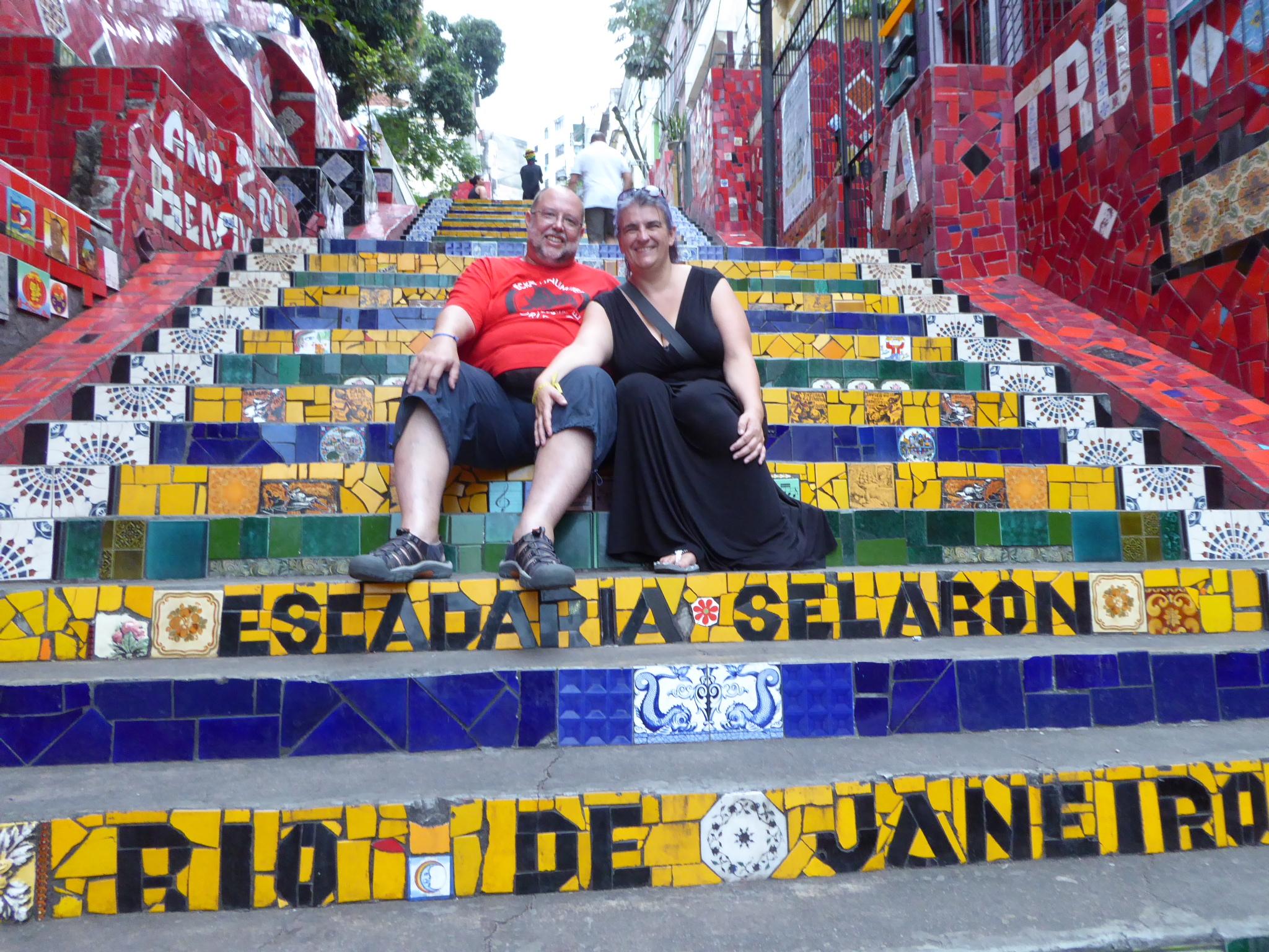 Zusammen auf der Escadaria Selaron