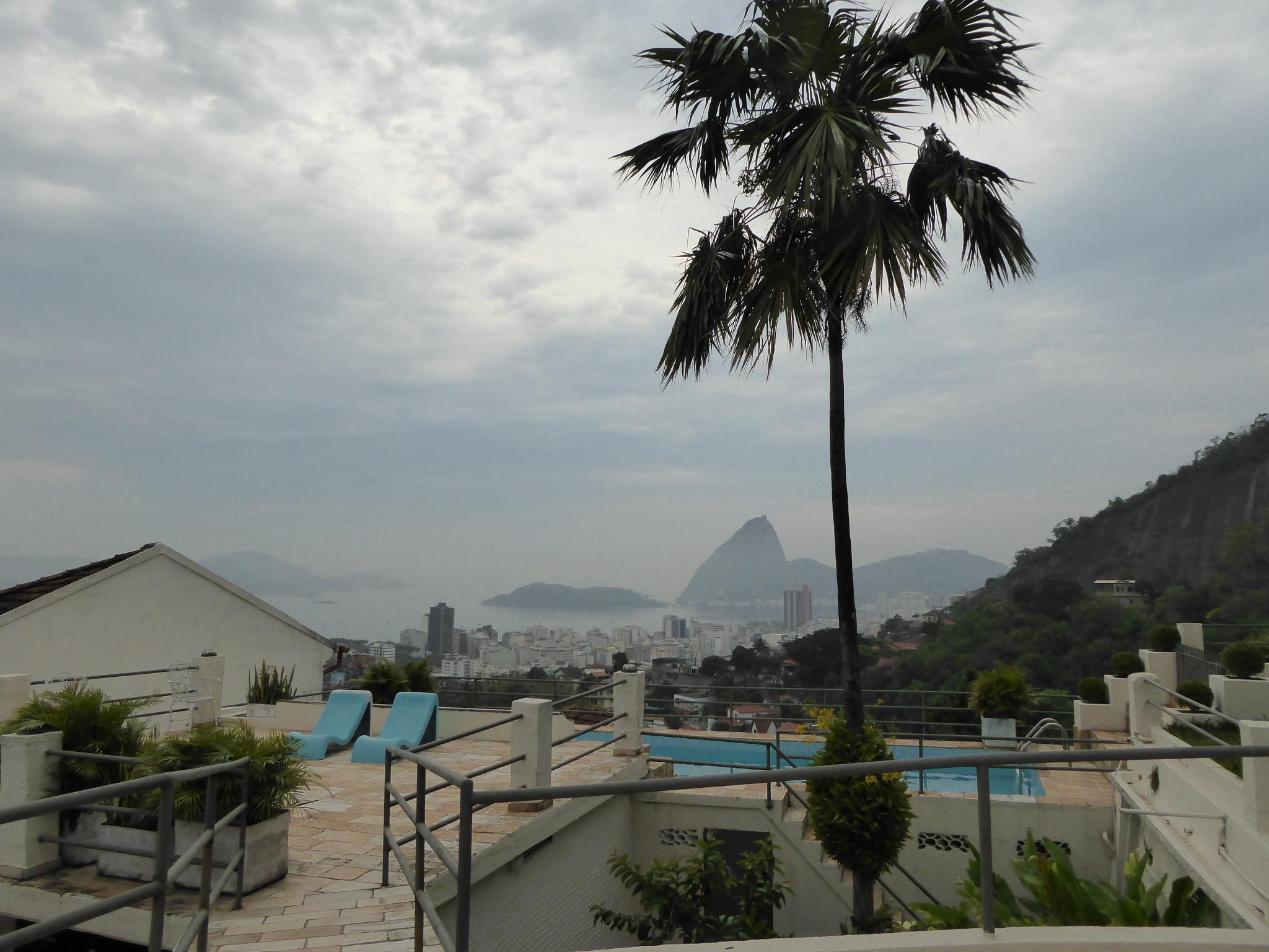 Aussicht vom Frühstückstisch im Rio Panoramic über Rio bis zum Zuckerhut