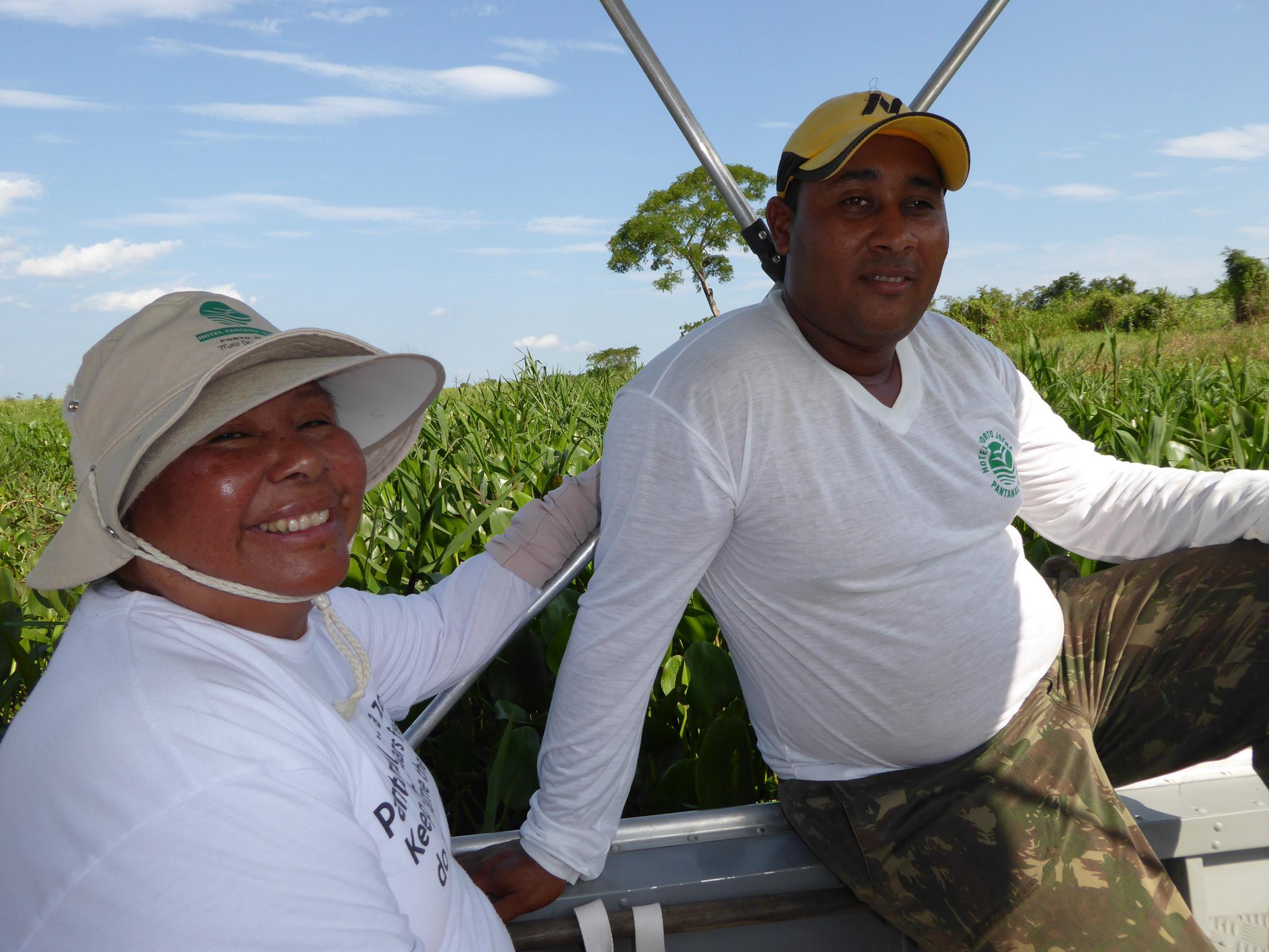 Judy unser Guide und Sali unser Bootsführer