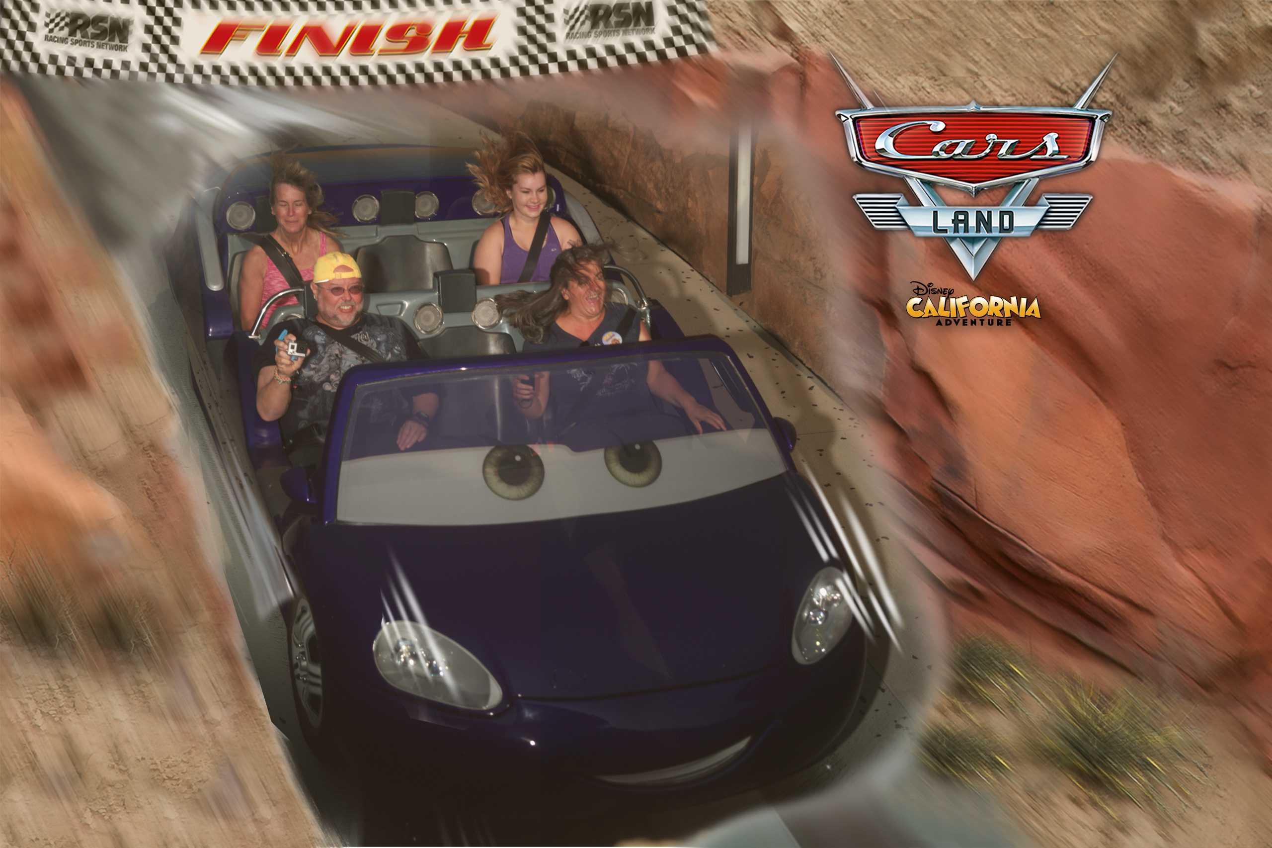Unser Sieger Zielfoto beim Cars Rennen