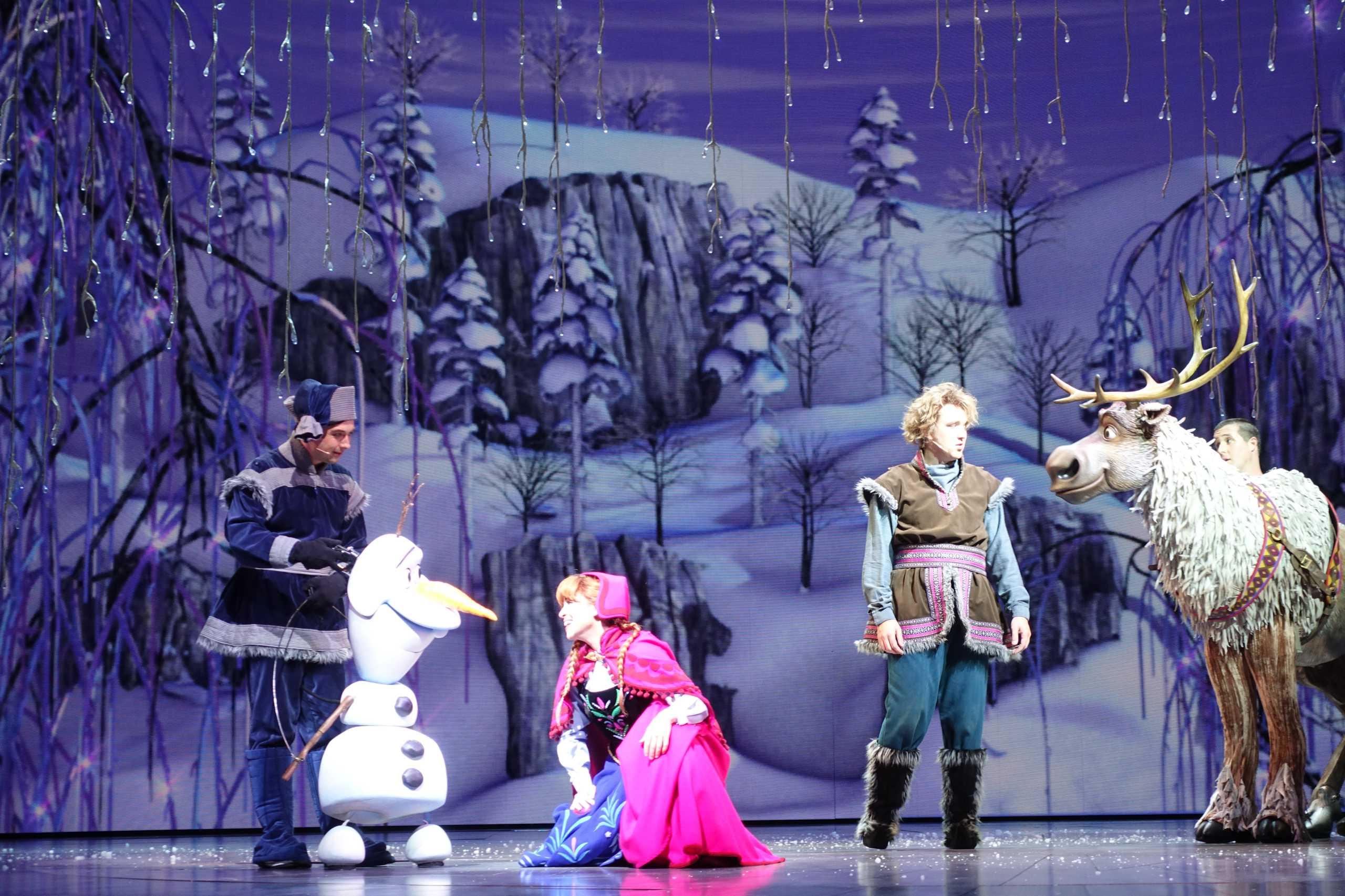Olaf, Anna, Kristoff und Sven aus Frozen