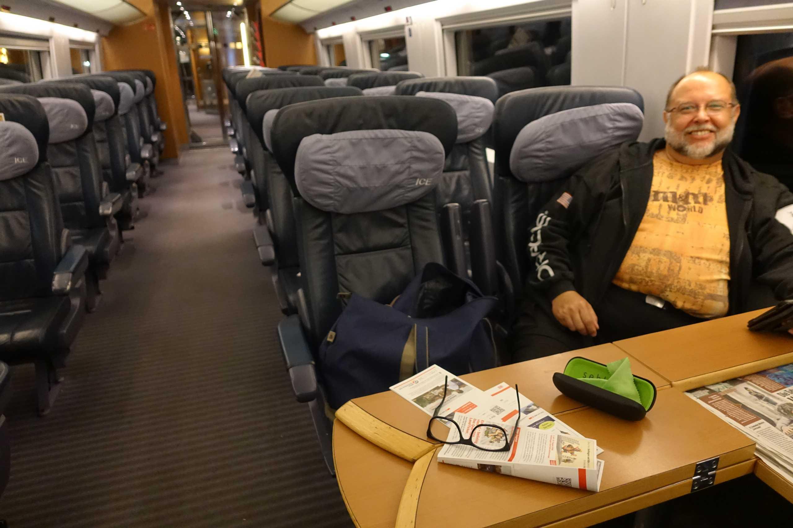 Reiner im Zug