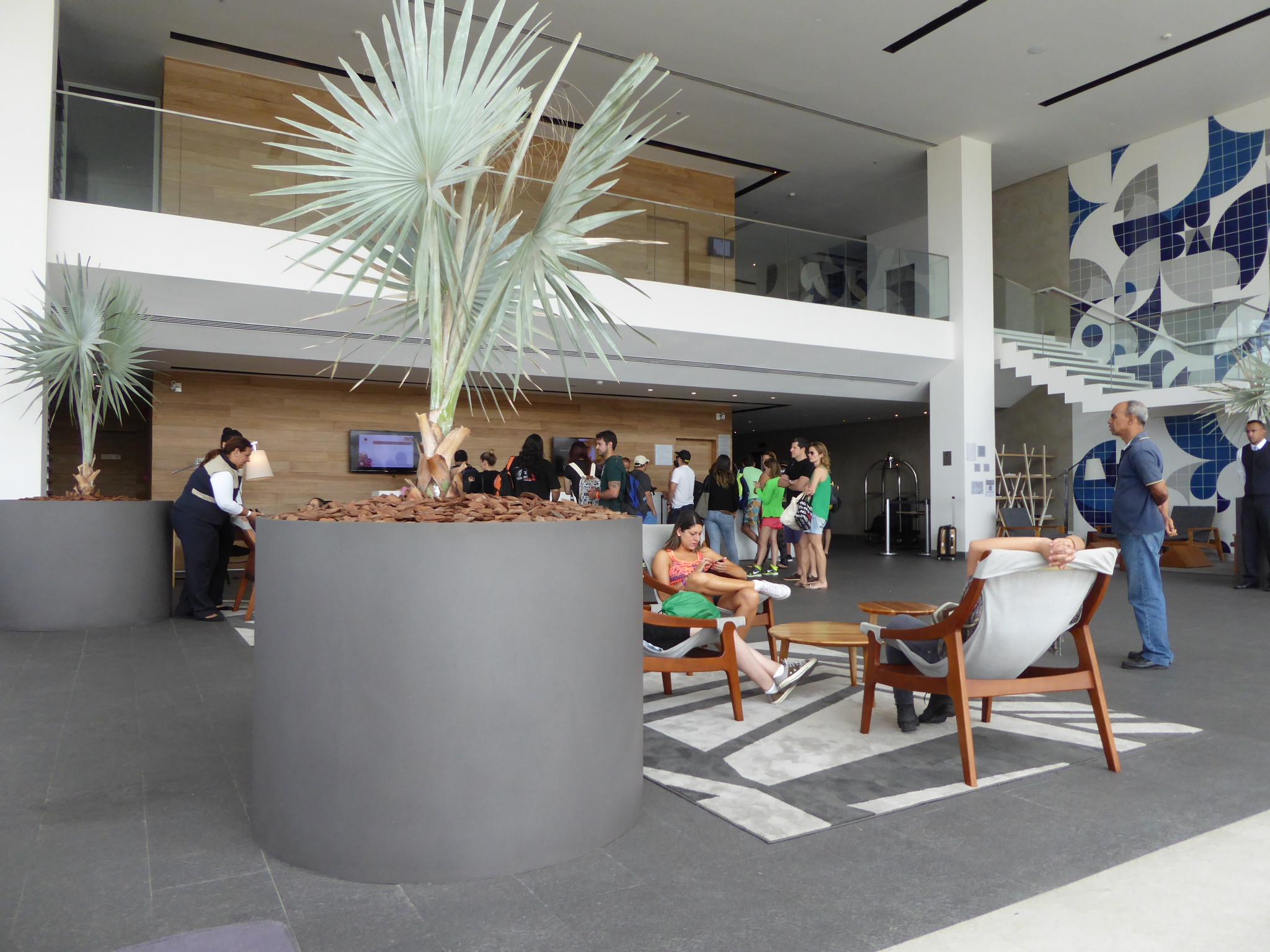 Die Lobby des Grand Mercure Riocentro